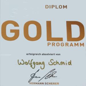 GOLD Diplom Wolfgang Schmid