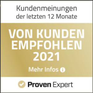 Proven Expert Kundenempfehlungen 2